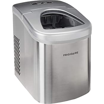 Frigidaire Countertop Stainless steel Ice Maker 26 lbs of Ice Per Day