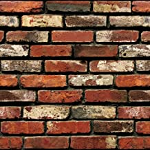 """Brick Peel and Stick Wallpaper - Brick Wallpaper - Easily Removable Wallpaper - 3D Wallpaper Brick Look – Use as Wall Paper, Contact Paper, or Shelf Paper - 17.71"""" Wide x 197"""" Long - 24.22 sq. ft. (1)"""