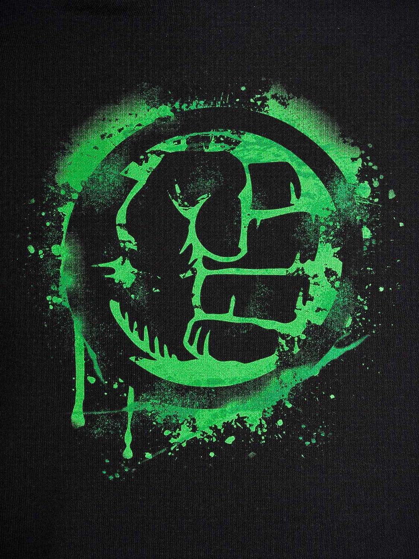 Hulk Poing Homme Sweat-Shirt à Capuche Noir, Regular/Coupe Standard Noir