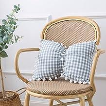 """Softta Leg Pillow 15"""" x18"""",100% Cotton Knee Pillow with Pom Pom Pillowcases Super Soft Leg Pillows Bed Leg Cushion"""