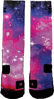 HoopSwagg Brand Athletic Socks Bubblegum Galaxy