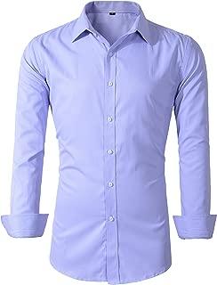 Mens Long Sleeve Slim Fit Dress Shirts