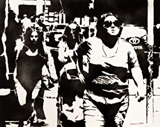 Marcia Urbana Street Art Dipinto Originale Fatto A Mano