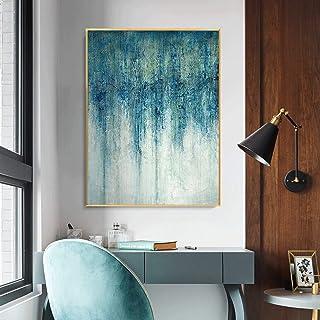Peinture À L'Huile Peinte À La Main Sur Toile,100% Peint À La Main Moderne Minimaliste Abstraction Paysage Art Dessiné À L...
