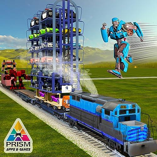 Roboter Muskel Auto Transformieren Zug Transport Tycoon Clever Kran Fahren Parken Abenteuer Spiele Frei Zum Kinder
