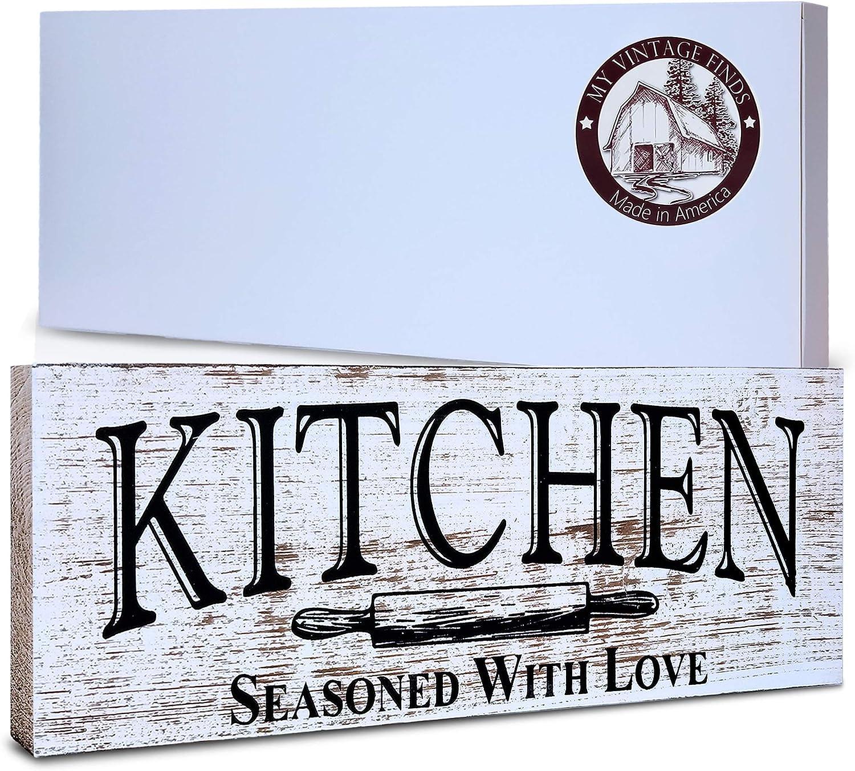 Kitchen Sign Rustic Kitchen Decor Farmhouse Wall Decor Made In America  Kitchen Sign Wall Decor And Decorations