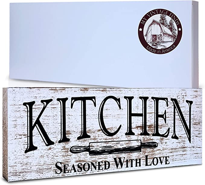 Kitchen Wood Sign Rustic Farmhouse Style Shelf Sitter Rustic Decor PRINT M2