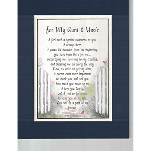 A Touching Poem Gift Anniversary Birthday Present For An Aunt Uncle