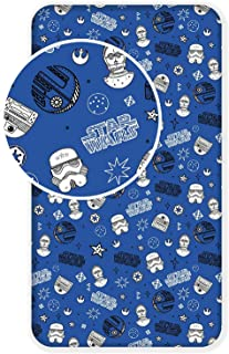 Jerry Fabrics Star Wars Fitted Sheet for Single Bed 90 x 200 cm Cotton