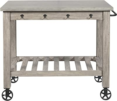 "Stone & Beam Industrial Serving Cart 36"" H, TBD"