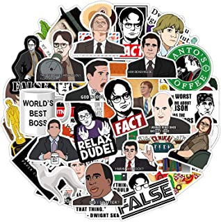 50 PCS The Office Stickers for Hydro Flask Water Bottles, Vinyl Cool Funny Stickers for Laptops, Computers, Decals, Phones, Suitcases