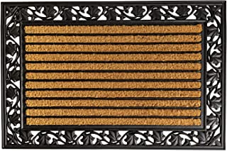 """Notrax, Ivy Leaf, Rubber-Backed Natural Coir Doormat, Entry Mat for Indoor or Outdoor Use, 24"""" x 36"""", C04 (C04S2436IL) Brown"""