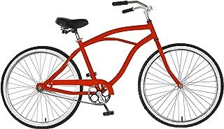 Cycle Force Cruiser Bike, 26 Inch Wheels, 18 Inch Frame, Men's Bike, Red