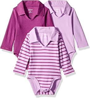 Ultimate Baby Flexy 3 Pack Long Sleeve Polo Bodysuits
