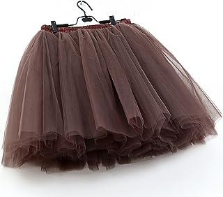FOLOBE Donna Tutu Skirt Petticoat Sottogonna Balletto Gonna Mezzo Passo Falso