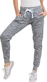 esstive Women's Ultra Soft Fleece Basic Midweight Casual Active Workout Solid Jogger Sweatpants