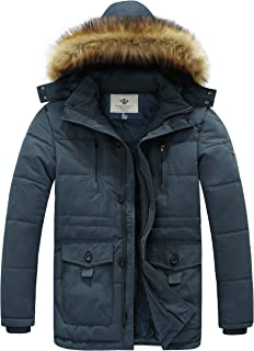 WenVen Men's Hooded Warm Coat Winter Parka Jacket