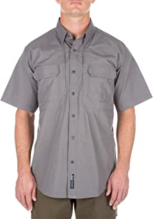5.11 Tactical Men's Short Sleeve Low Profile Design Button Up Polo Shirt, Cotton Fabric, Style 71152