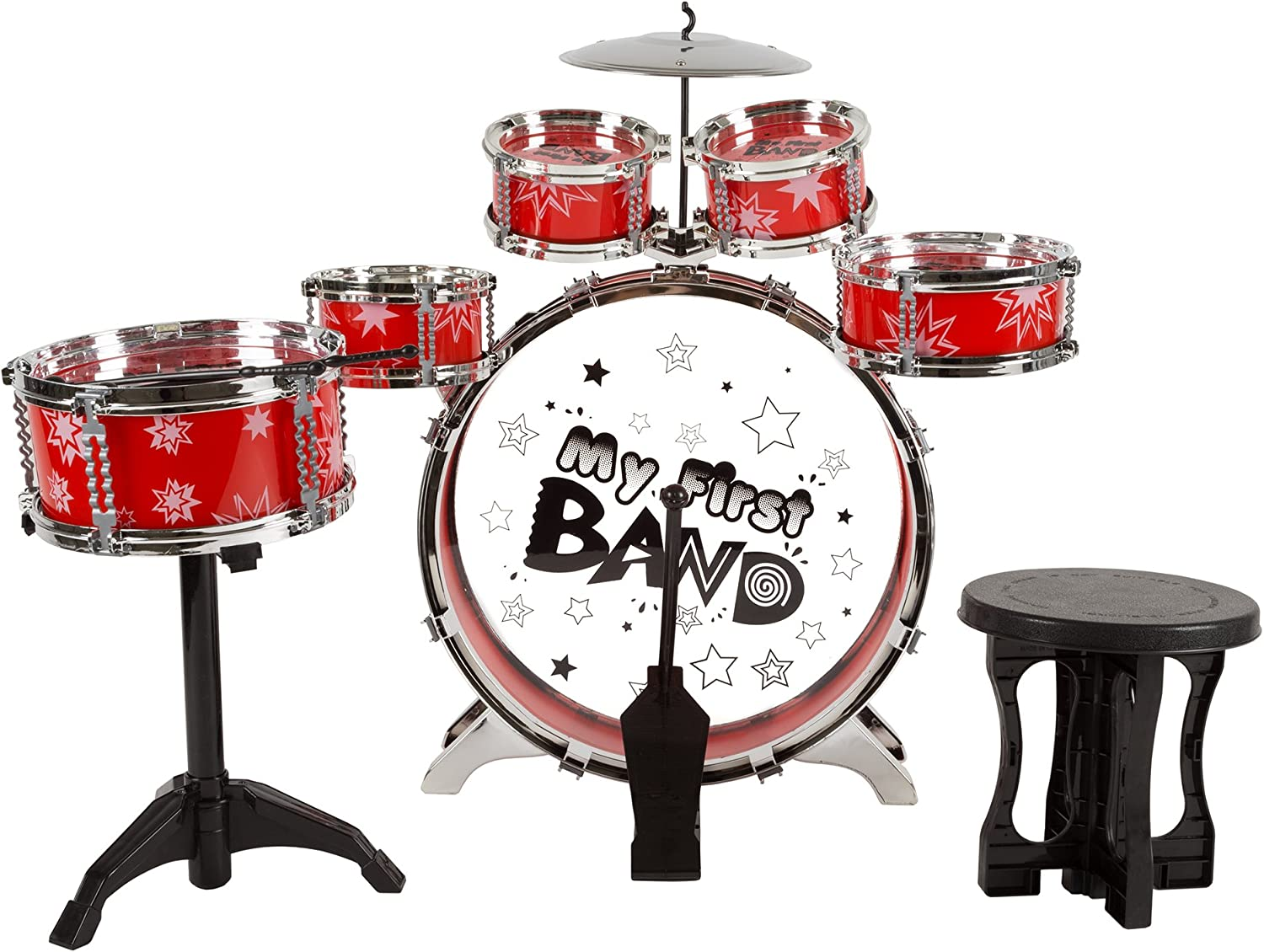Toy Drum Set New popularity for Kids 7 Peda Foot with Bass Piece Topics on TV