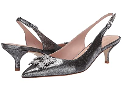 Stuart Weitzman Kitty (Silver Lame Velvet) Women