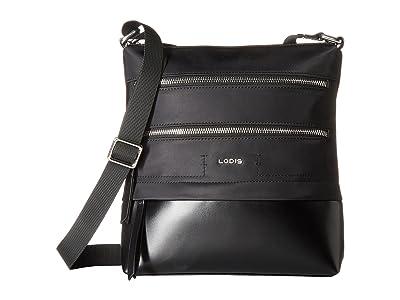 Lodis Accessories Nylon Sports Wanda Travel Crossbody (Black) Cross Body Handbags