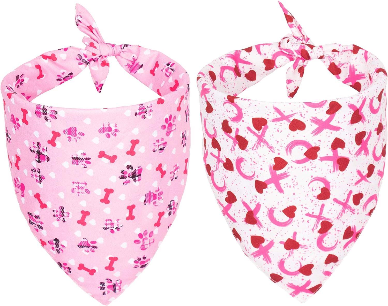 Regular Cheap bargain dealer Valentine's Day Dog Bandana Triangle Scarf Bandan Bib Reversible