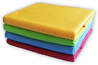 Microfiber Cleaning Cloths - Streak Free, Lint Free - Surface Polishing Dust Towels -Cloths for Glass Windows, Cars, TV Sc...