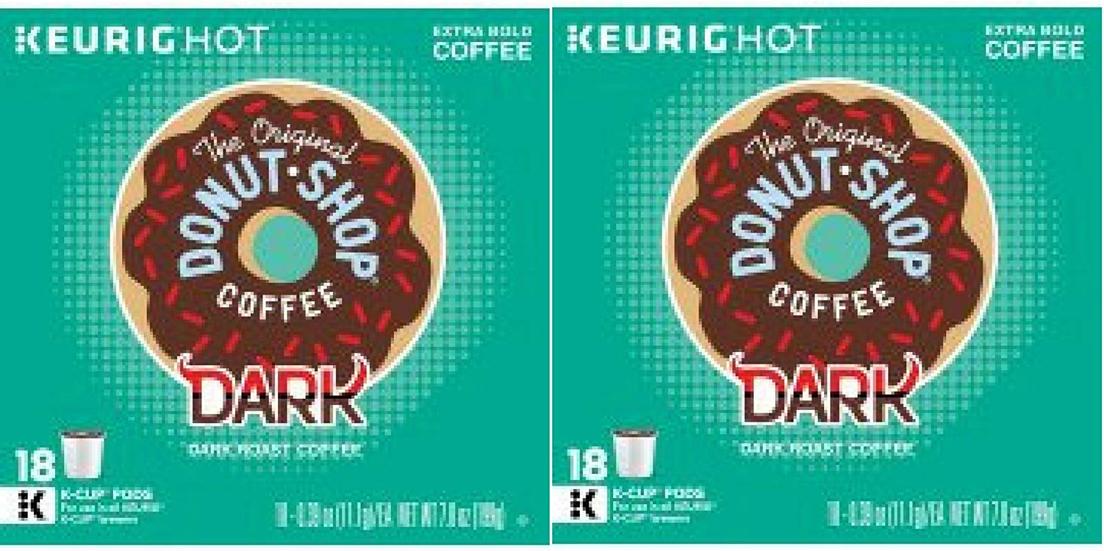 The Original Donut Shop Dark Keurig Single Serve K Cup Pods Dark Roast Coffee 18 Count Pack Of 2