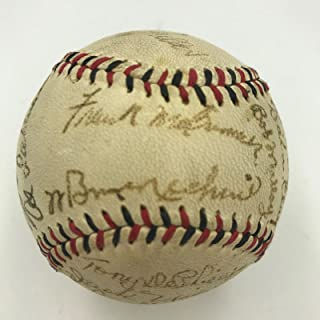 Beautiful 1943 Cincinnati Reds Team Signed Baseball Bill McKechnie COA - JSA Certified - Autographed Baseballs