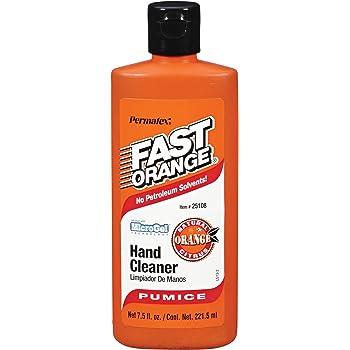 Permatex 25108 Fast Orange Pumice Lotion Hand Cleaner, 7.5 oz.