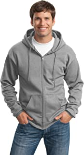 Port & Company Men's Tall Ultimate Full Zip Hooded Sweatshirt
