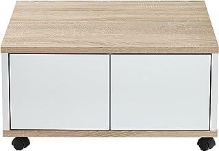 100 x 60 x 44 H Cm Nobilitato Rovere FMD Moebel Gmbh Frey S03 Tavolino Contenitore