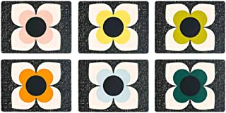 ORLA KIELY SCRIBBLE SQUARE FLOWER FLORAL PLACEMATS PRESENT GIFT BOXED X 6
