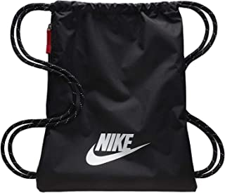 Nike Heritage 2.0 Gymbag - Bolsa de deporte, color blanco/negro, tamaño talla única