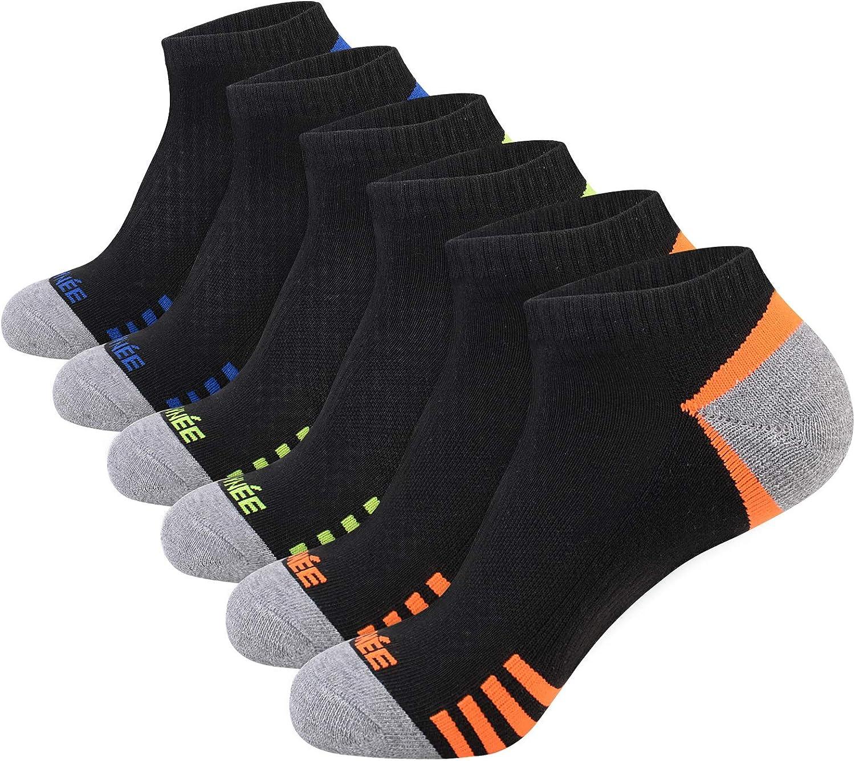 JOYN/ÉE Mens Low Cut Casual Socks 6 Pack Men Comfort Cushioning Ankle Athletic Socks