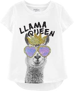 OshKosh B'Gosh Kids' Little Girls' Sequin Short-Sleeve T-Shirt
