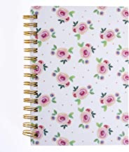 Graphique Watercolor Roses Hard Bound Journal - 160 Ruled Pages, Pink Roses and Polka Dots Design Embellished w/Gold Foil, 6.25