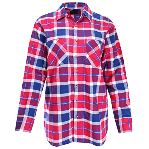 c95e6ef3a24 Ladies  Code Women s Boyfriend Shirt Flannel Plaid Button Down ...