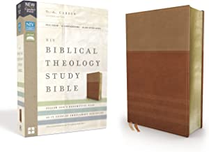 NIV, Biblical Theology Study Bible, Leathersoft, Tan/Brown, Comfort Print: Follow God's Redemptive Plan as It Unfolds throughout Scripture