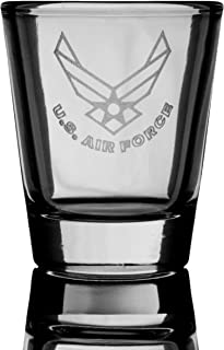 2oz US Air Force SHOT GLASS Military USA