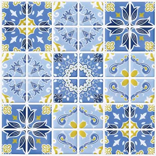 blue kitchen floor tiles