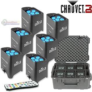 6x Chauvet Freedom Par Tri-6 Battery/Wireless DMX RGB LED Wash Light + SKB Case