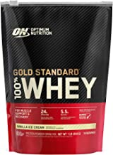 Optimum Nutrition Gold Standard 100% Whey Protein Powder, Vanilla Ice Cream, 1 Pound (Packaging May Vary)
