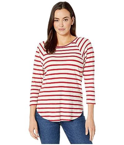 Karen Kane Striped 3/4 Raglan Sleeve Tee (Stripe) Women
