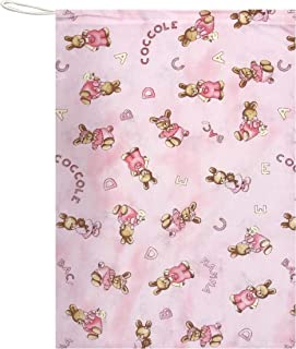 Sacchetto Asilo per bambino e bambina porta indumenti cambio asilo sacca nido 100/% Cotone 46x60 cm