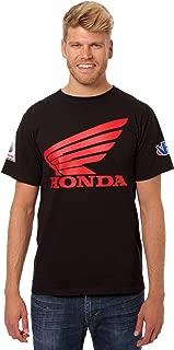 JH Design Men's for Honda T-Shirt Wing Logo Crew Neck Shirt 2 Colors