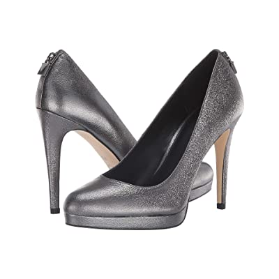 MICHAEL Michael Kors Antoinette Pump (Anthracite Sparkle Metallic) High Heels