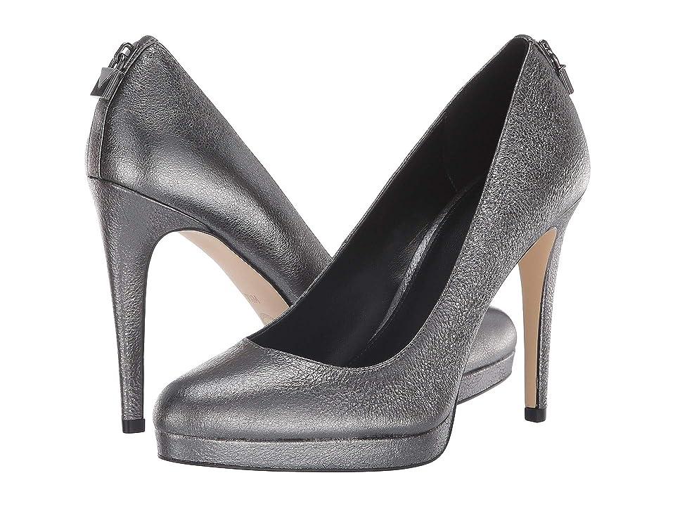 MICHAEL Michael Kors Antoinette Pump (Anthracite Sparkle Metallic) High Heels