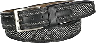 PGA TOUR Men's Leather with Stretch at Buckle