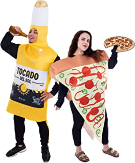 Pizza Slice and Beer Bottle Couple's Halloween Costume   Funny Food